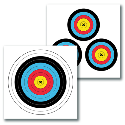 2-sided color paper target for archery 17.75x17.75