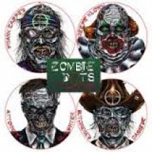 "Assortment Zombie Dots 8"" (12 Target Stickers)"