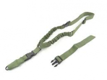 One Point Bungee Rifle Sling Green